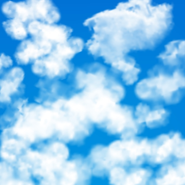 Sky clouds seamless pattern Free Vector