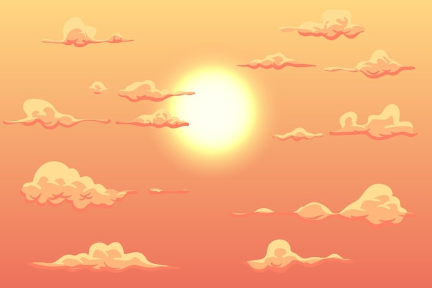 Sky in daylight background for online video conferencing Free Vector