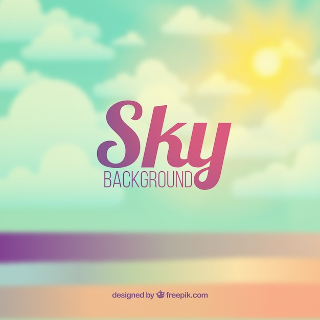 Sky unfocused background