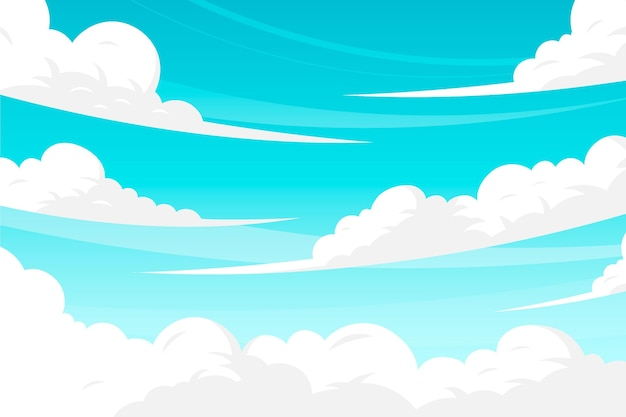 Sky wallpaper theme Free Vector