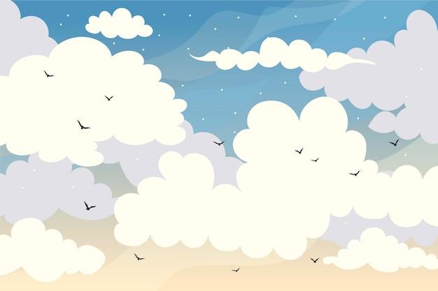 Sky wallpaper for video calls Free Vector