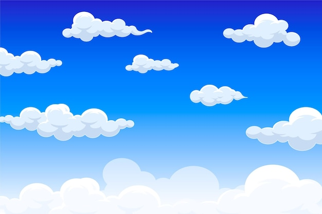 Sky wallpaper for video conference Free Vector