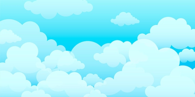 Sky wallpaper for video conferencing Free Vector