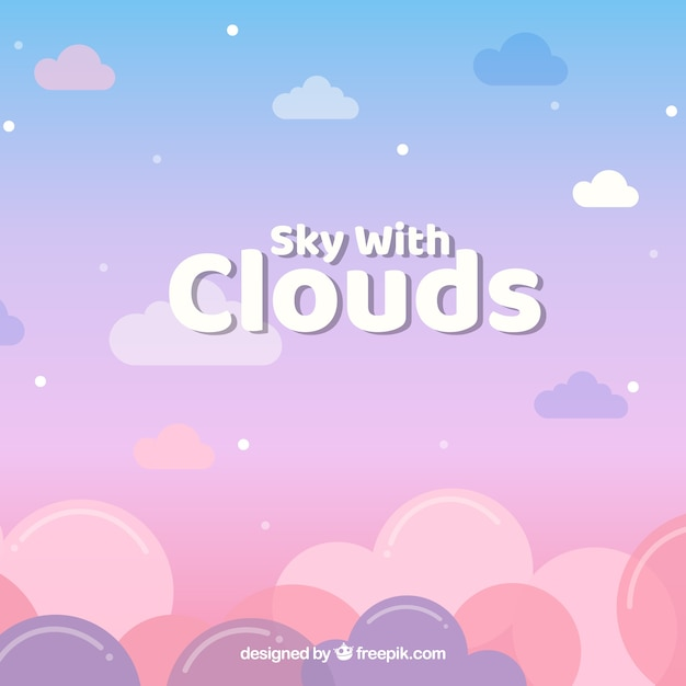 구름과 하늘 무료 벡터