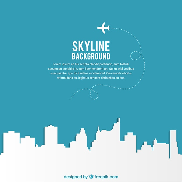 Skyline background Free Vector
