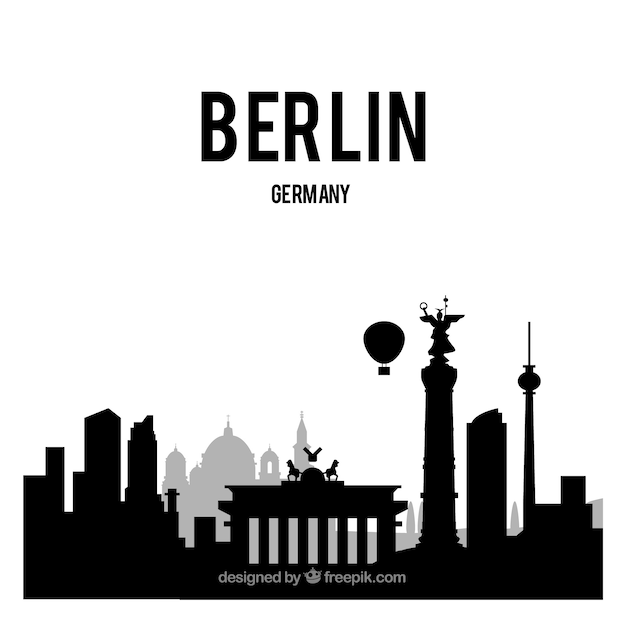 Skyline of berlin Free Vector