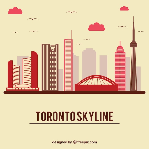 Free Vector Skyline Design Of Toronto,Graphic Design In Fashion Industry
