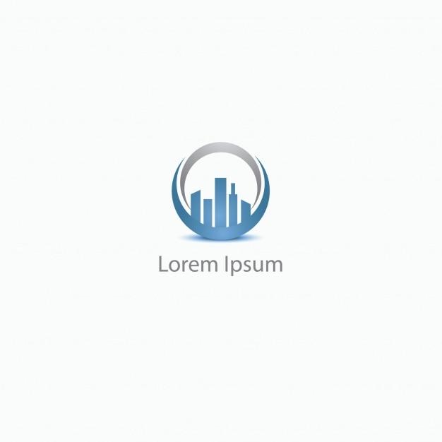 skyline logo background vector | free download