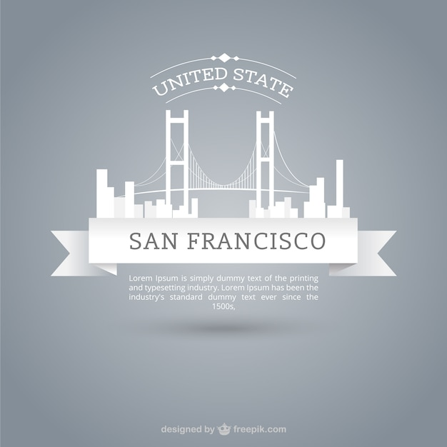 Skyline Of San Francisco Vector Free Download - San francisco map vector free download