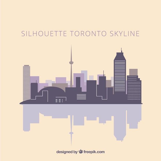 Skyline силуэт торонто Бесплатные векторы