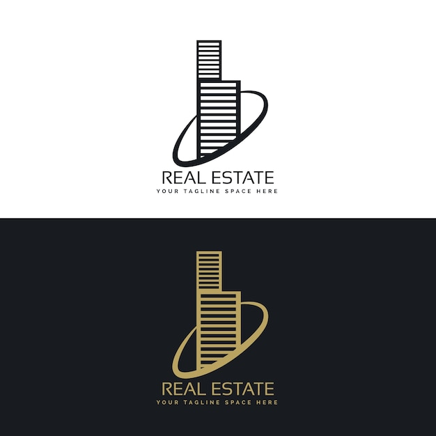 Skyscraper real estate logo