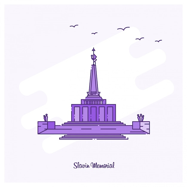 Slavin memorial landmark Free Vector