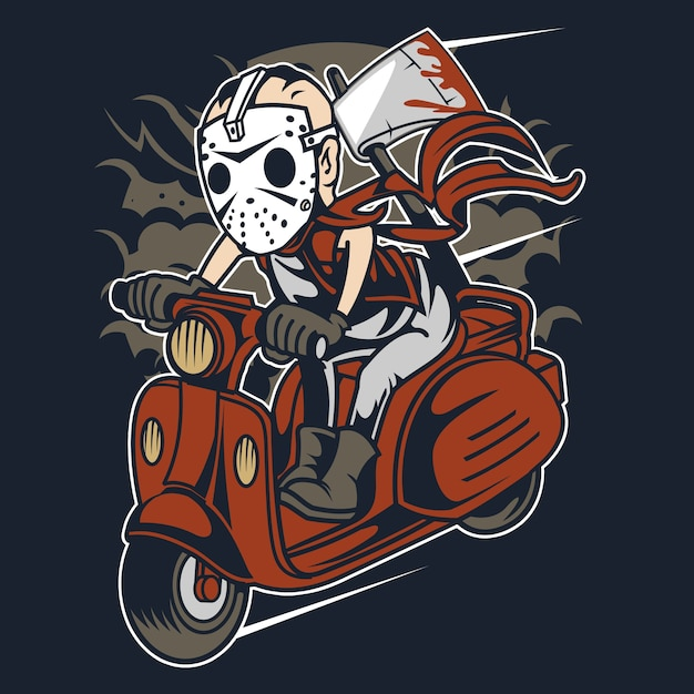 Slayer scooter Premium Vector