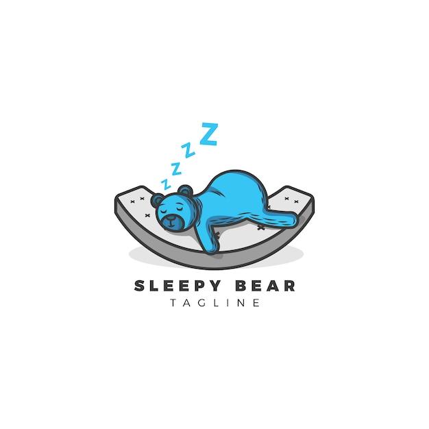 Sfondo dell'orso sonnolento Vettore gratuito