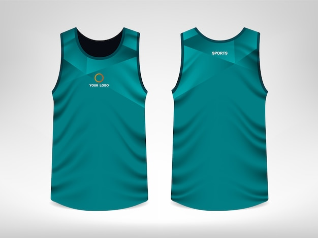 c2e3c5becbd2ad Sleeveless Sport T-shirt Design Premium Vector