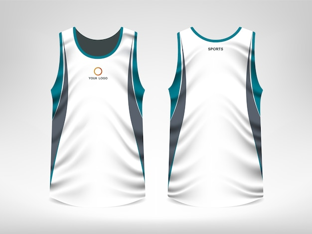 b9ee6e28e03540 Sleeveless sport t-shirt design Premium Vector