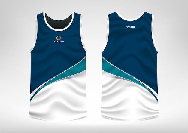 Sleeveless sport t-shirt design Premium Vector