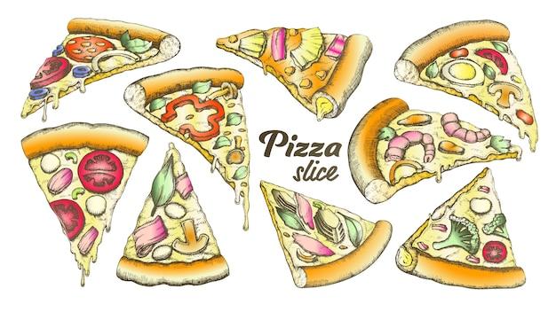 Ломтик пиццы Premium векторы
