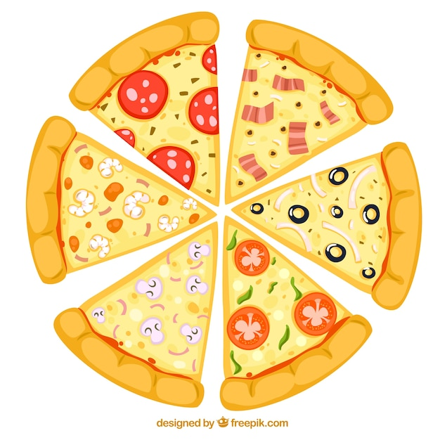 Slices of pizza Free Vector