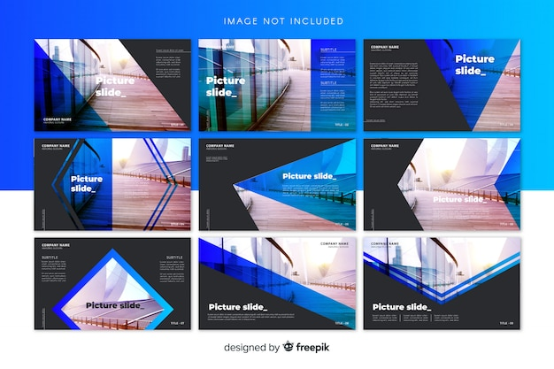 Slide templates Free Vector