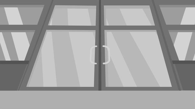 Sliding doors background Premium Vector