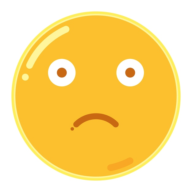 Slightly frowning face emoticon Premium Vector