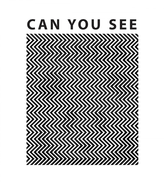 Slogan with panda hidden optical illusion concept Premium Vector