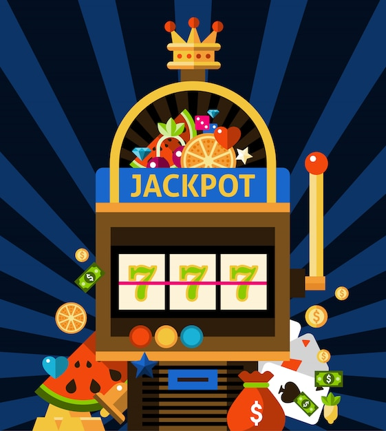 Slot machine concept Free Vector