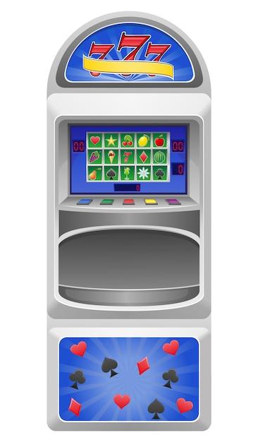 Slot machine vector illustration Premium Vector
