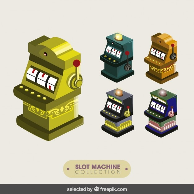 Slot machines collection Free Vector