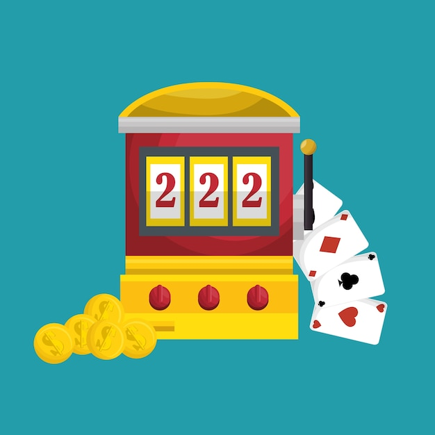 Slots machine casino icon vector illustration design Premium Vector