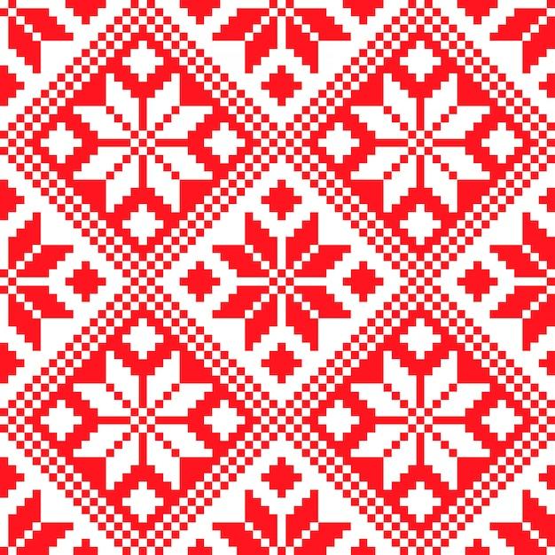 Словенский традиционный узор орнамента. бесшовный фон Premium векторы