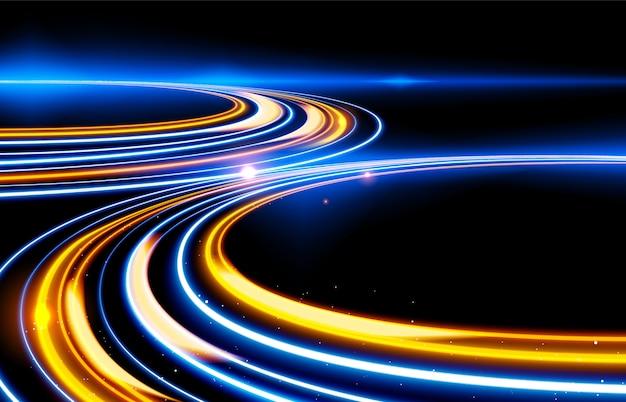 Slow shutter light trails effect Premium Vector