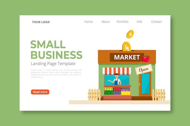 Целевая страница малого бизнеса Бесплатные векторы