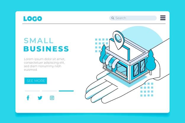 Pagina di destinazione per le piccole imprese Vettore gratuito