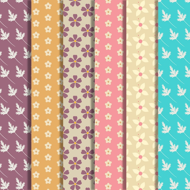 Small flowers pattern background\ collection