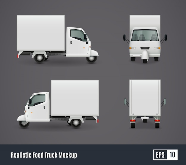 Small food truck template Free Vector