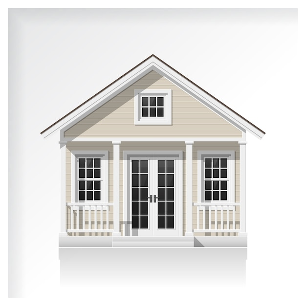 Premium Vector Small House Icon Isolated On White Background