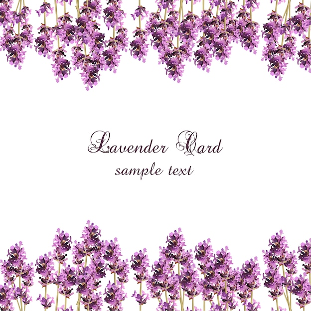 Small lavender card design