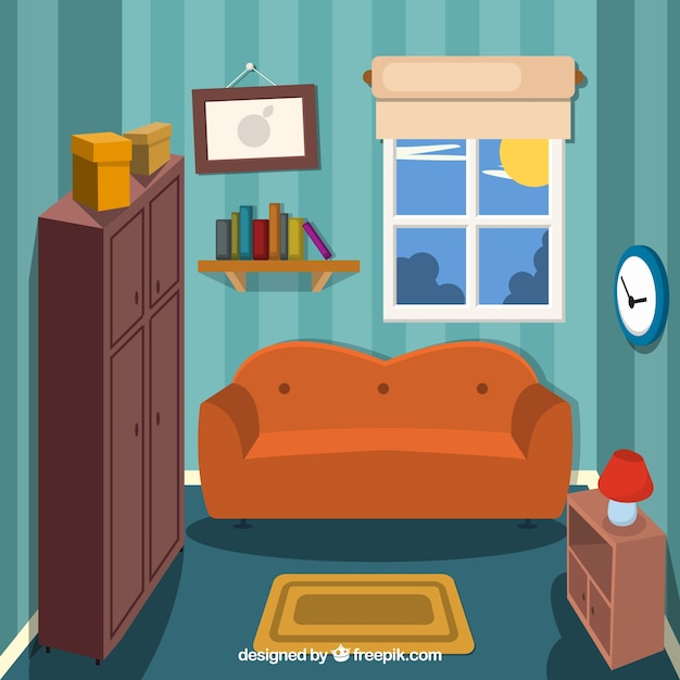 small living room vector free download