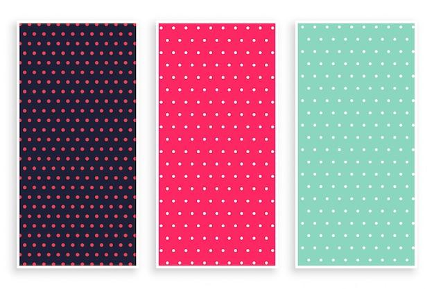 Small polka dots pattern banner Free Vector