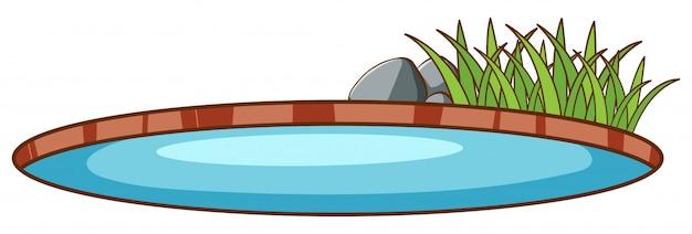 Small pool Premium Vector