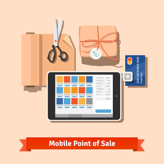 Small retail business payments Free Vector