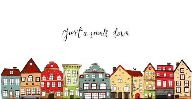 小さな町のデザイン 無料ベクター