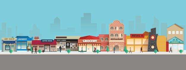 Small town Premium Vector