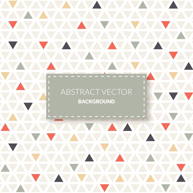 Small triangles pattern background Free Vector