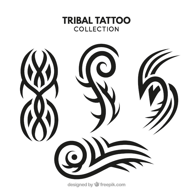 Tattoo Designs Vector Free Download: Small Tribal Tattoo Collection Vector