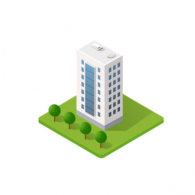 The smart building home Premium Vector