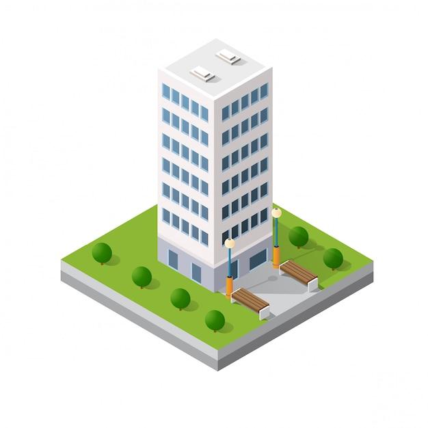 The smart building home Premium Vector