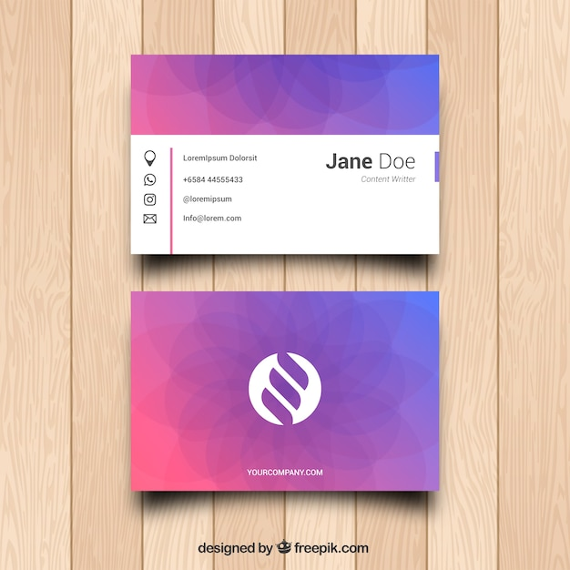 Smart Business Card Vector Free Download